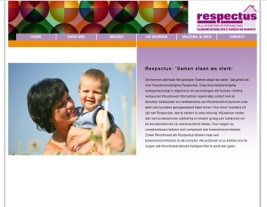 Screenshot website Respectus