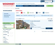 Screenshot website Woonnet
